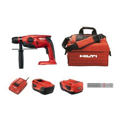 TE 2 Amp 22-Volt Advanced Compact Battery SDS Cordless Hammer Drill Package with Tool Bag