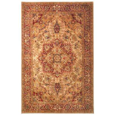 Classic Light Gold/Red 8 ft. x 10 ft. Area Rug