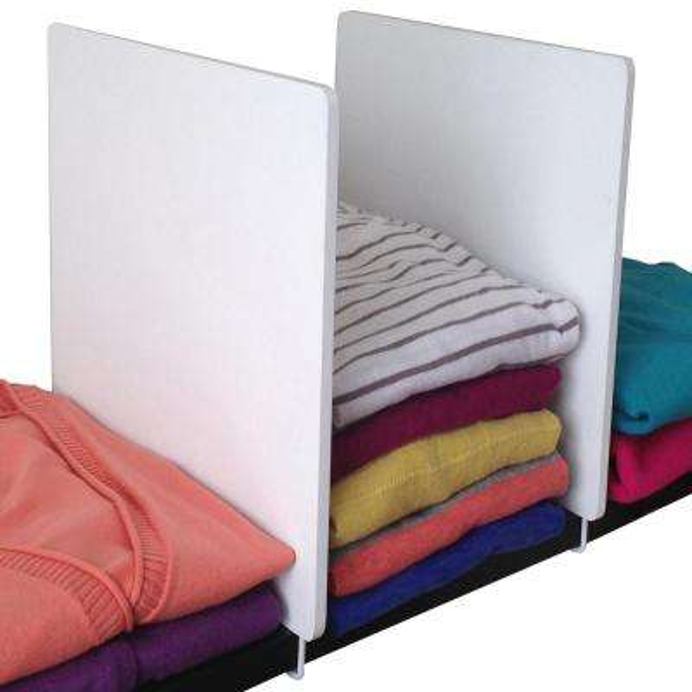 Adjustable Wood Shelf Dividers in White (2-Pack)
