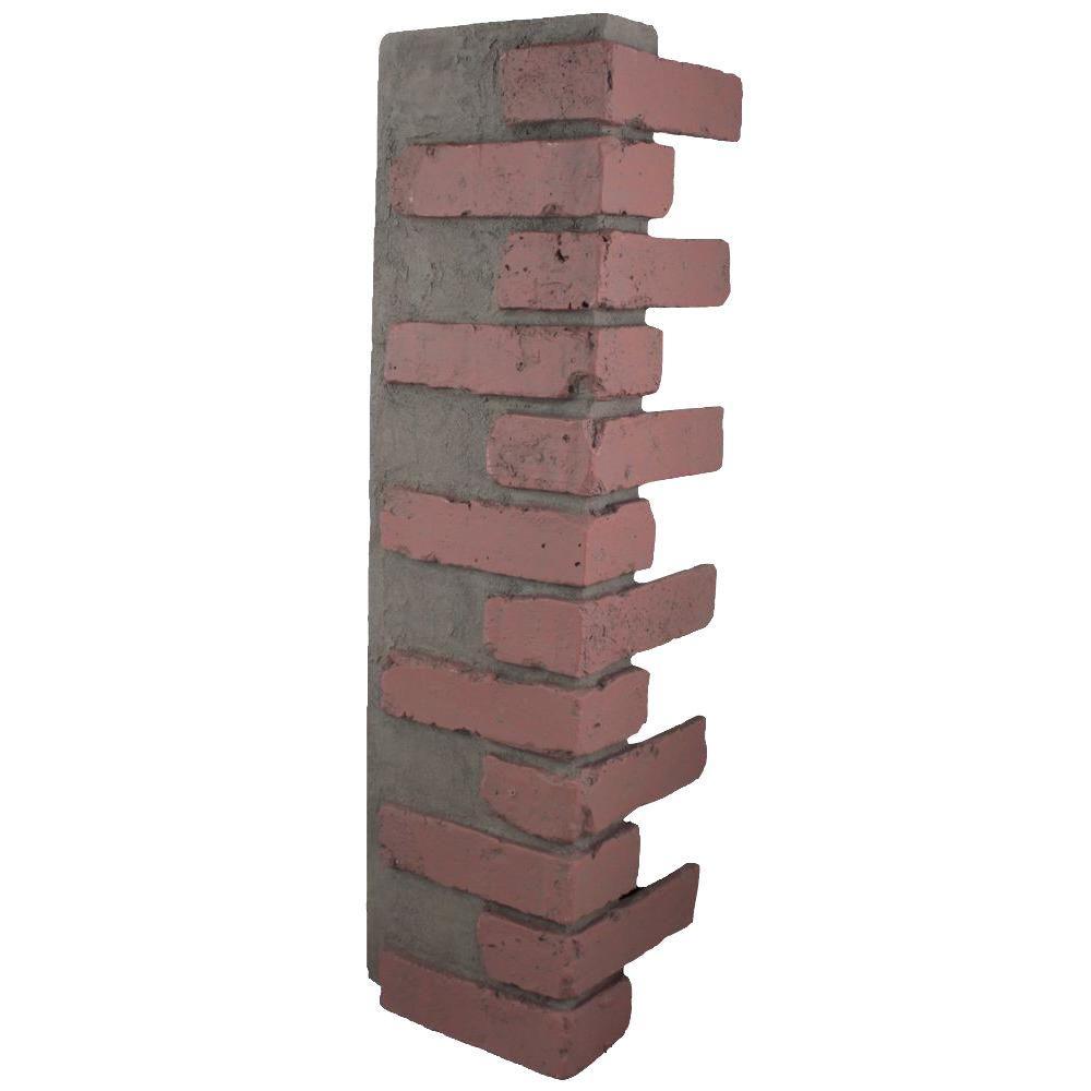Redstone 32-1/2 in. x 9-3/4 in. x 8-1/8 in. Faux Reclaimed Brick Outside Corner
