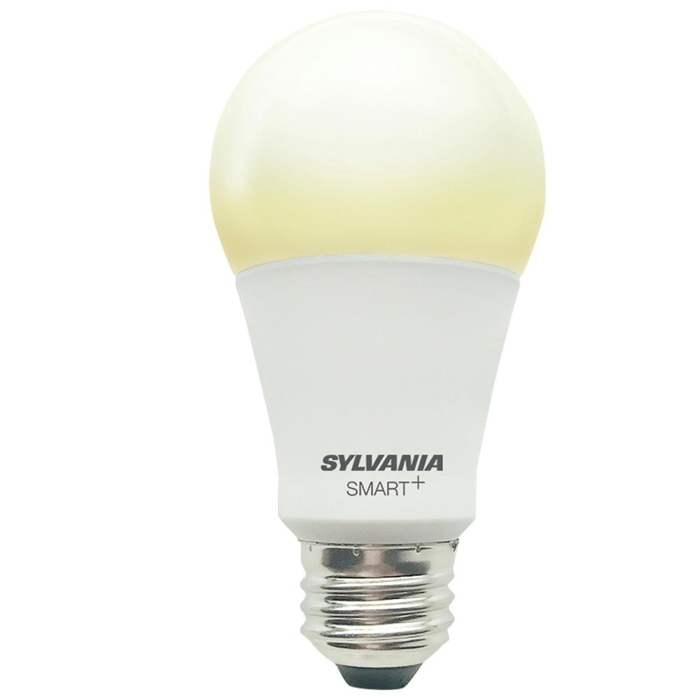 sylvania smart bluetooth 60 watt equivalent soft white dimmable a19 led light bulb 74579 the. Black Bedroom Furniture Sets. Home Design Ideas