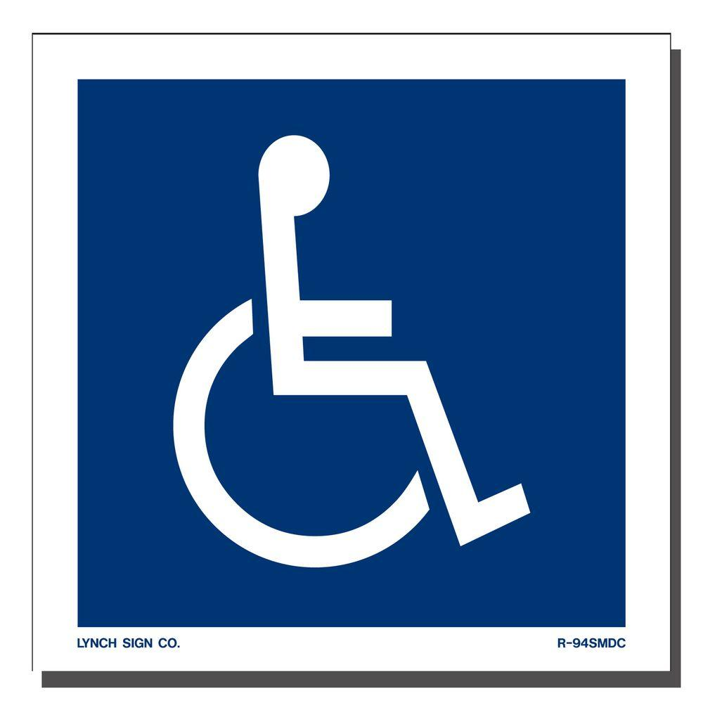Lynch Sign 5 In X 5 In Decal Blue On White Sticker Accessible