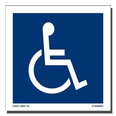 5 in. x 5 in. Decal Blue on White Sticker Accessible Symbol