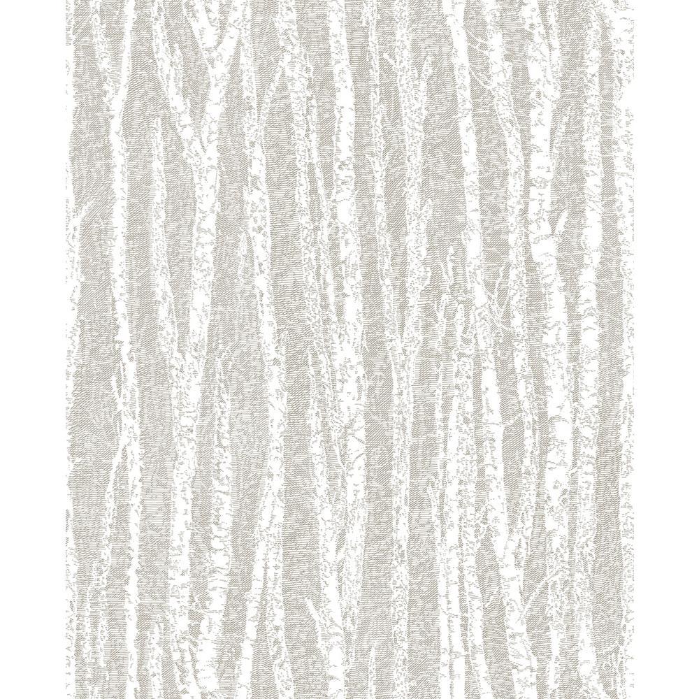 Advantage Advantage 56.4 sq. ft. Toyon Taupe Birch Tree Wallpaper, Brown