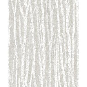56.4 sq. ft. Toyon Taupe Birch Tree Wallpaper
