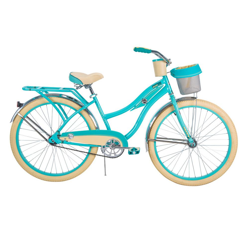 d49a7c2801c Huffy Deluxe 26 in. Women's Classic Cruiser Bike-26658 - The Home Depot
