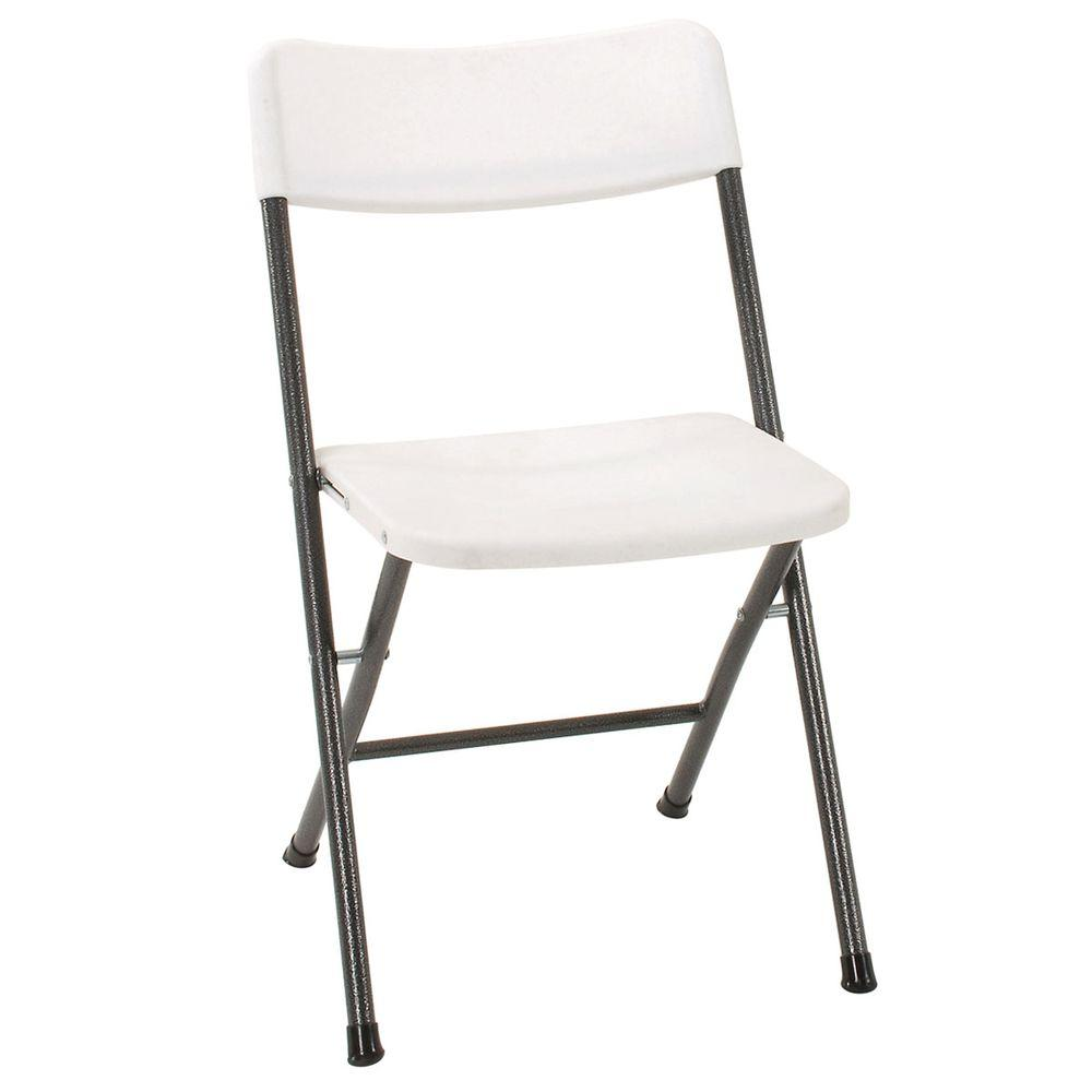 Groovy Cosco White Plastic Seat Metal Frame Outdoor Safe Folding Chair Set Of 4 Pabps2019 Chair Design Images Pabps2019Com