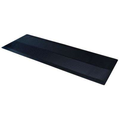 Indoor/Outdoor Black 27 in. x 72 in. Rubber Runner Mat