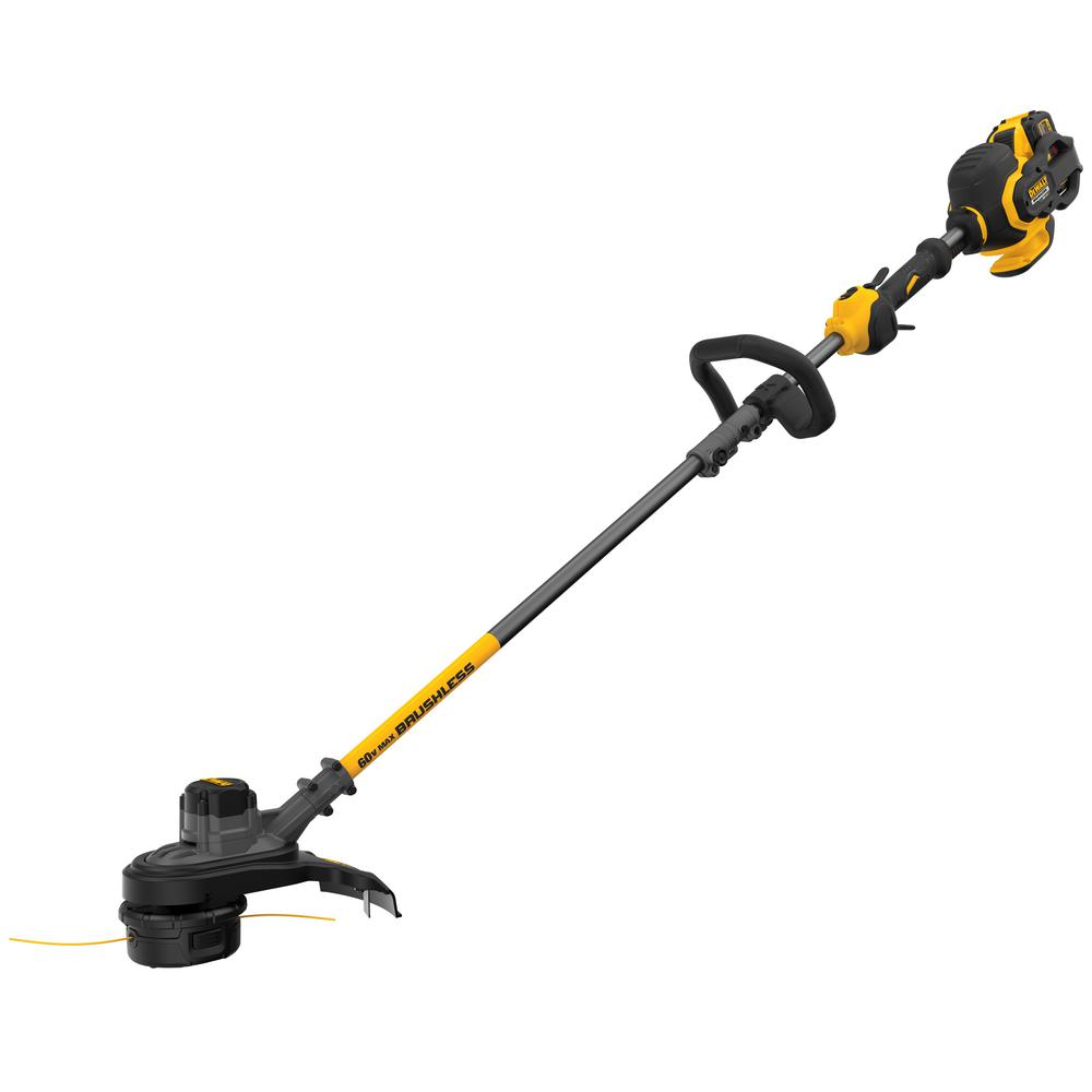 DEWALT 60-Volt MAX Lithium-Ion Cordless FLEXVOLT Brushless 15 in. String Grass Trimmer w/ (1) 3.0Ah Battery and Charger