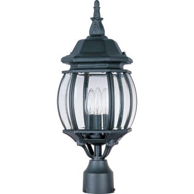 Crown Hill 3-Light Black Outdoor Pole/Post Mount