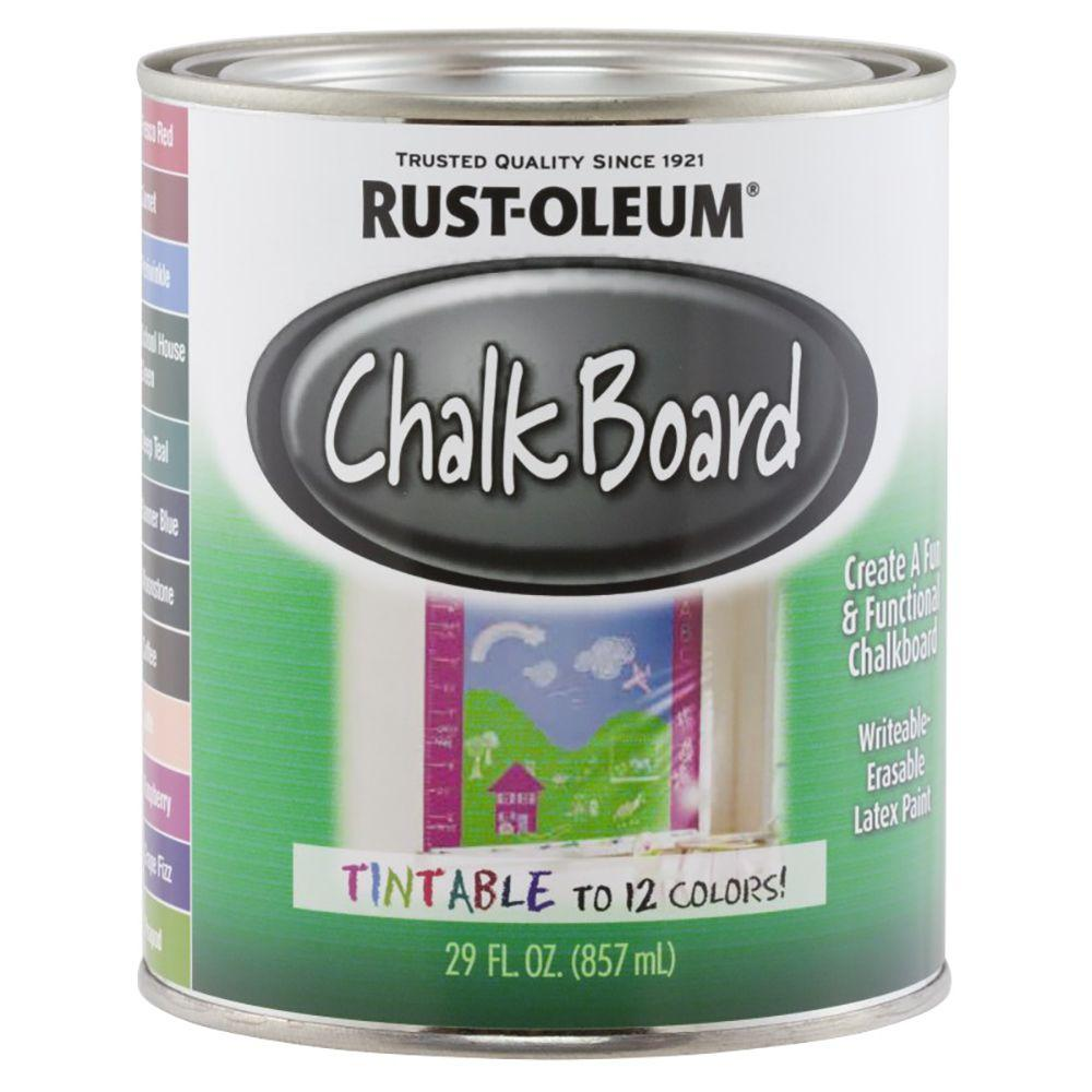 Completely new Rust-Oleum Specialty 29 oz. Clear Tintable Chalkboard Paint-243783  TZ84