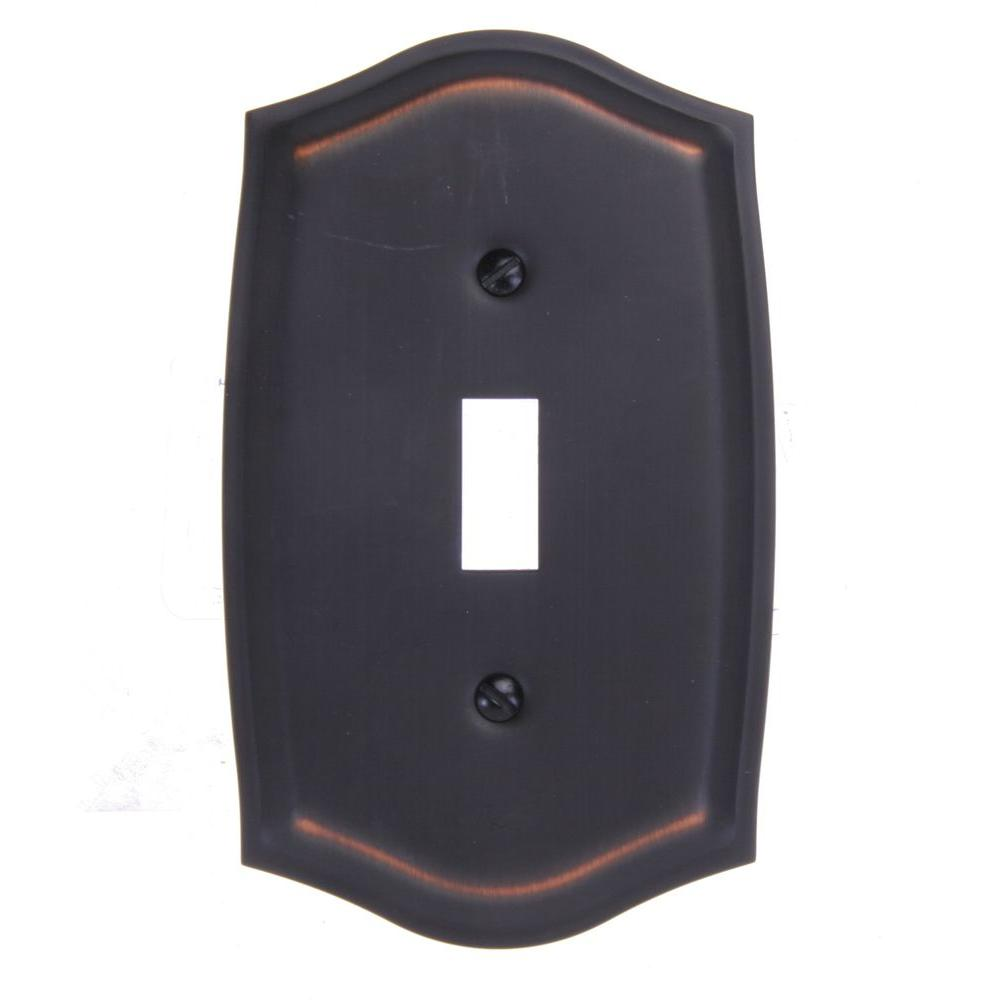 Amerelle Sonoma 1 Toggle Wall Plate - Aged Bronze