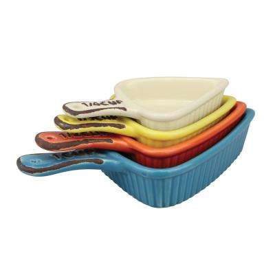 Assorted Ceramic Measuring cups (4-pack)