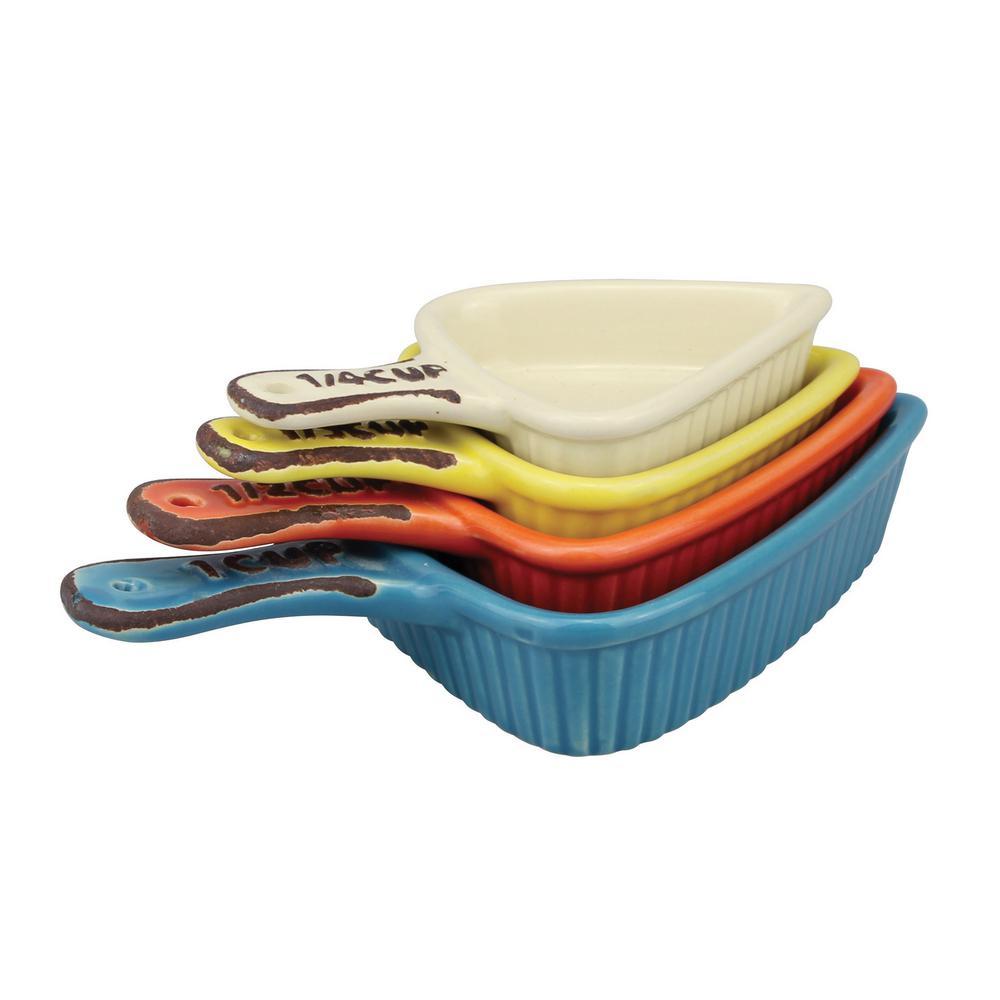 Assorted Ceramic Measuring cups (4-pack)