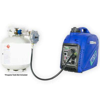 1600-Watt Dual Fuel Propane / Gasoline Powered Recoil Start Portable Inverter Generator
