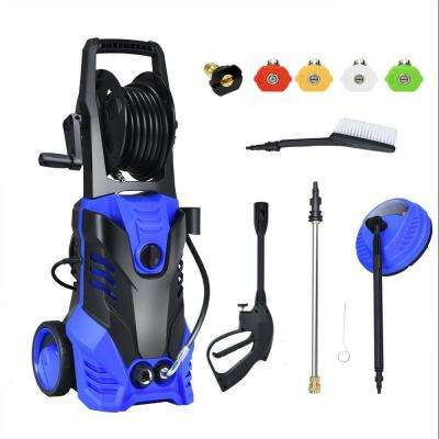 3000 PSI 2 GPM 2000-Watt Electric High Pressure Washer Machine with Deck Patio Cleaner and 5 Nozzles in Blue