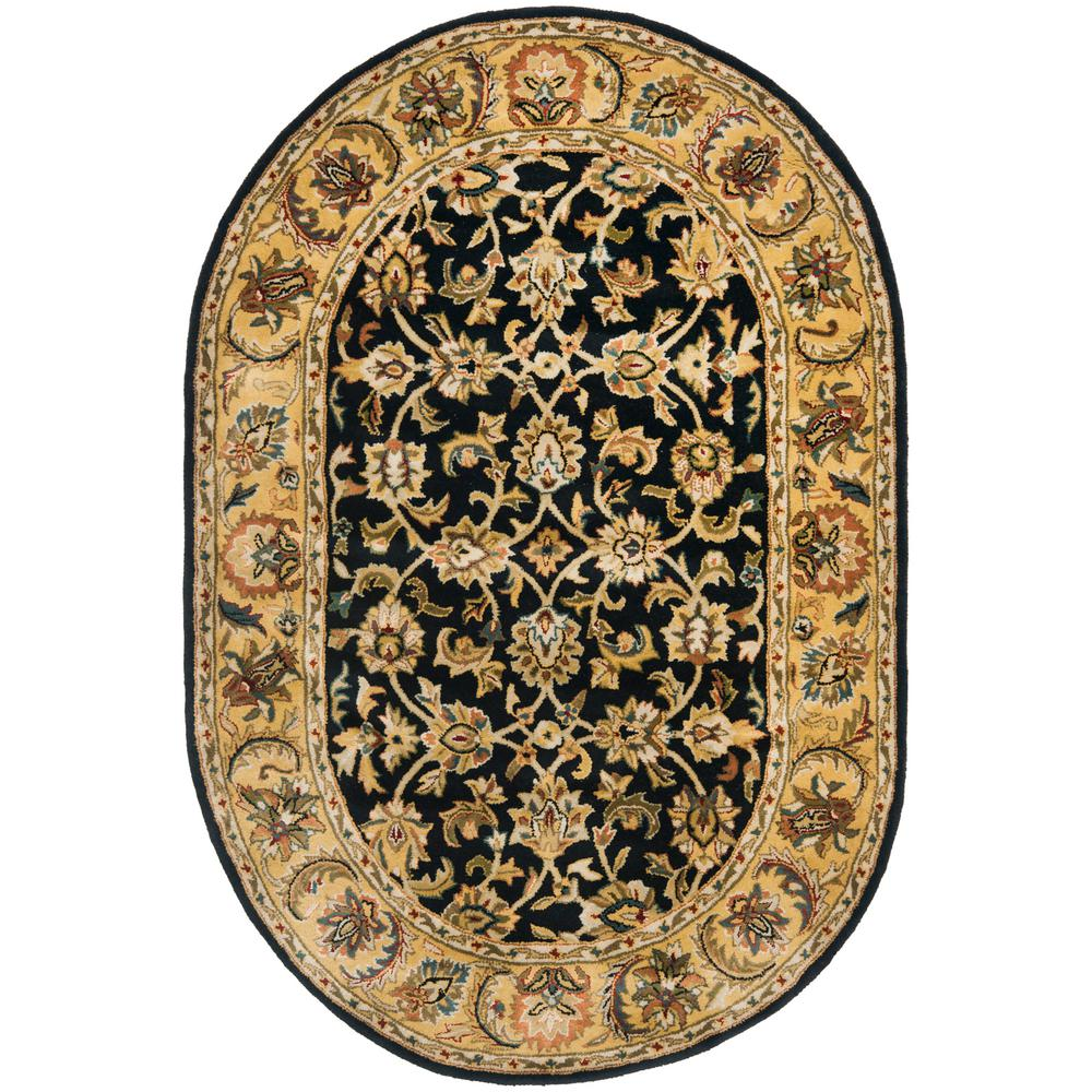 Safavieh Clic Black Gold 5 Ft X 7 Oval Area Rug
