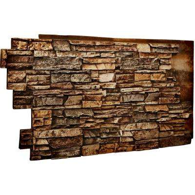 1-1/2 in. x 48 in. x 25 in. Geneva Urethane Stacked Stone Wall Panel