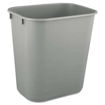 3.5 Gal. Gray Rectangular Deskside Trash Can