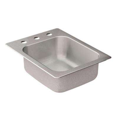 2000 Series Drop-in Stainless Steel 17 in. 3-Hole Single Bowl Bar Sink