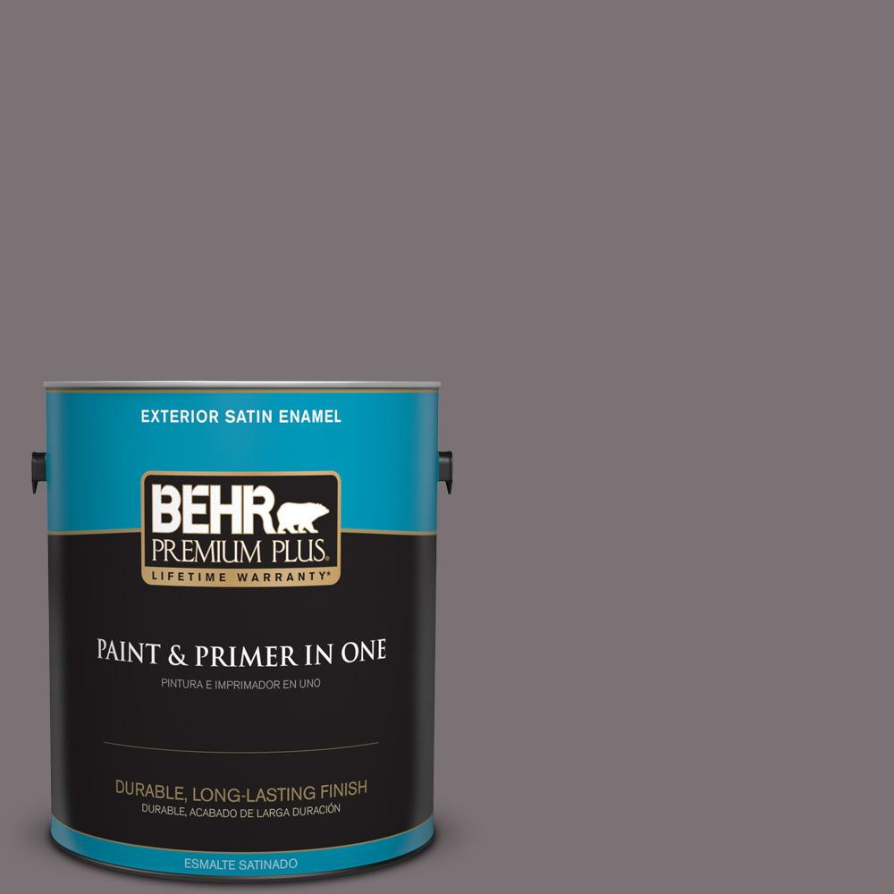1 gal. #PPU17-18 Echo Satin Enamel Exterior Paint and Primer in