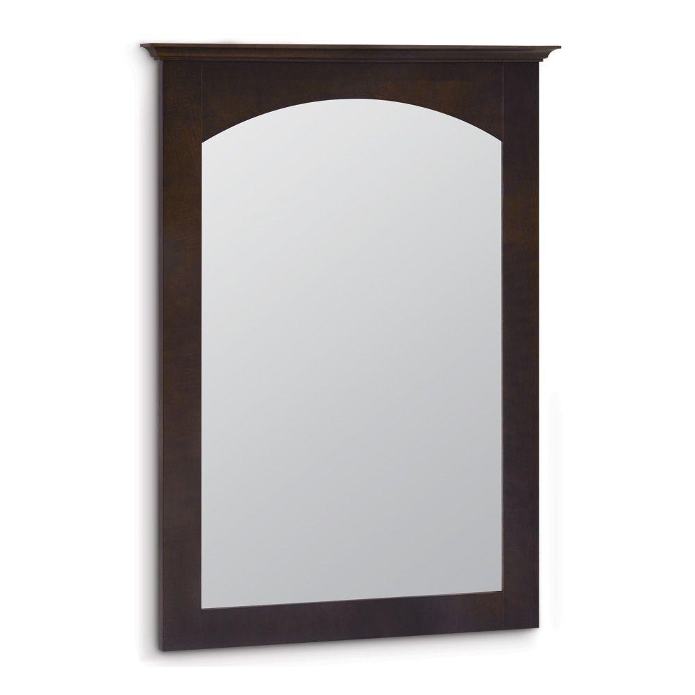 American Classics Melborn  22 in. x 31 in. Framed Vanity Mirror in Java