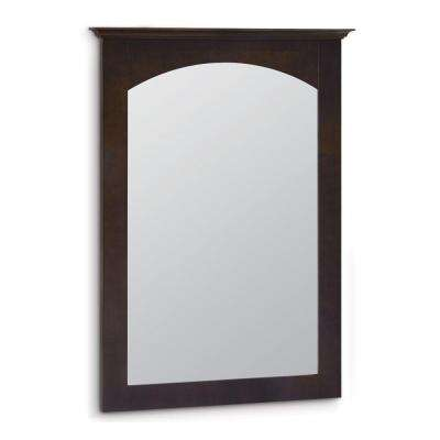 Melborn  22 in. x 31 in. Framed Vanity Mirror in Java