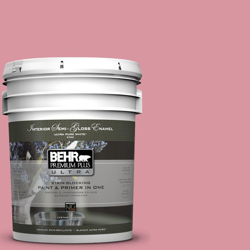 5-gal. #M150-4 Glow Pink Semi-Gloss Enamel Interior Paint