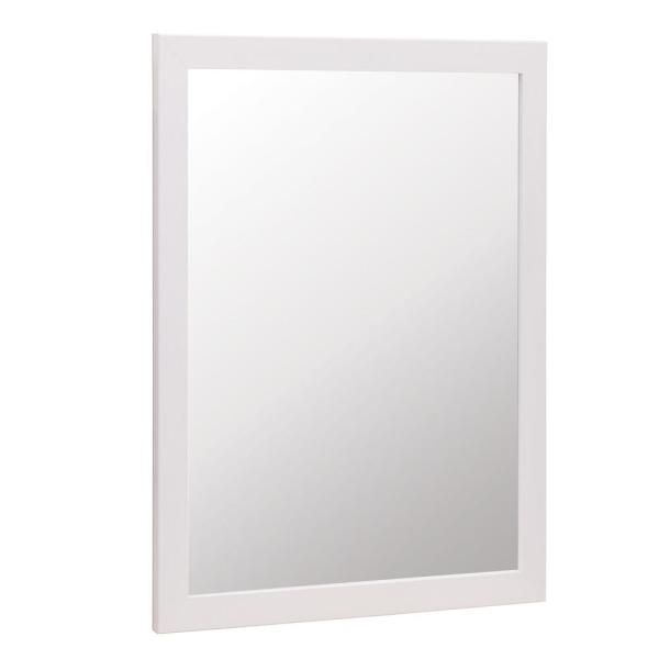 Kinghurst 29 in. W x 35 in. H Single Framed Vanity Mirror in White