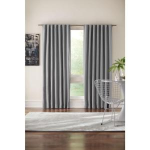 Home Decorators Collection Semi-Opaque Gray Room Darkening Back Tab Curtain by Home Decorators Collection