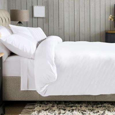 88 in. x 92 in. 100% Organic Cotton Solid Wrinkle Resistant Queen Duvet Set