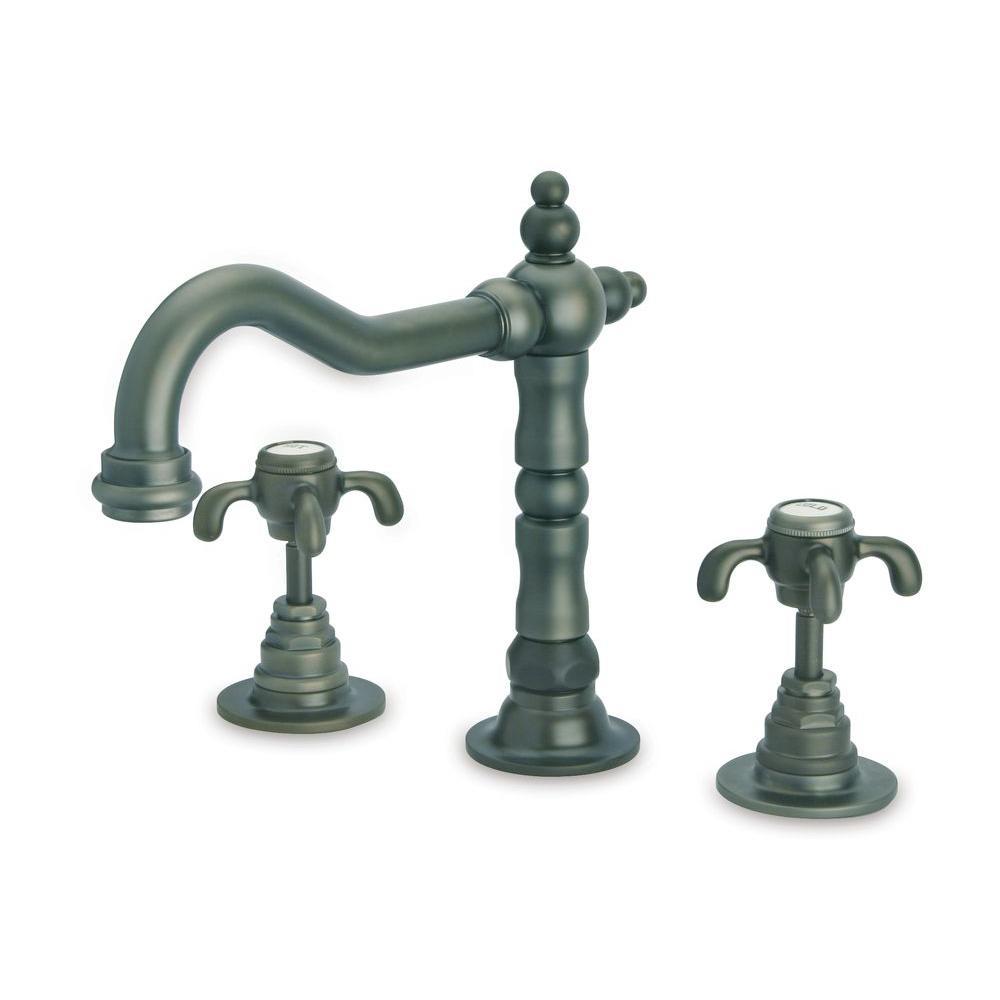 Ornellaia 2-Handle Cross Roman Tub Faucet in Tuscan Bronze