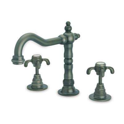 Ornellaia 2-Handle Cross Roman Tub Faucet in Tuscan Bronze