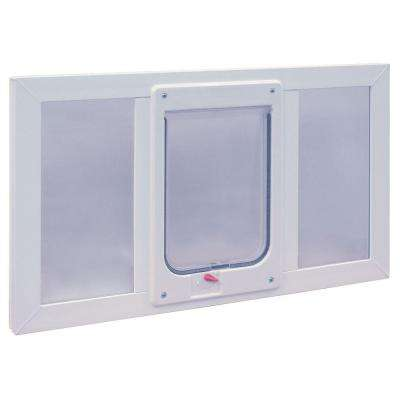 7.5 in. x 10.5 in. Large Chubby Cat Frame Door for Installation into 36 in. Wide Sash Window