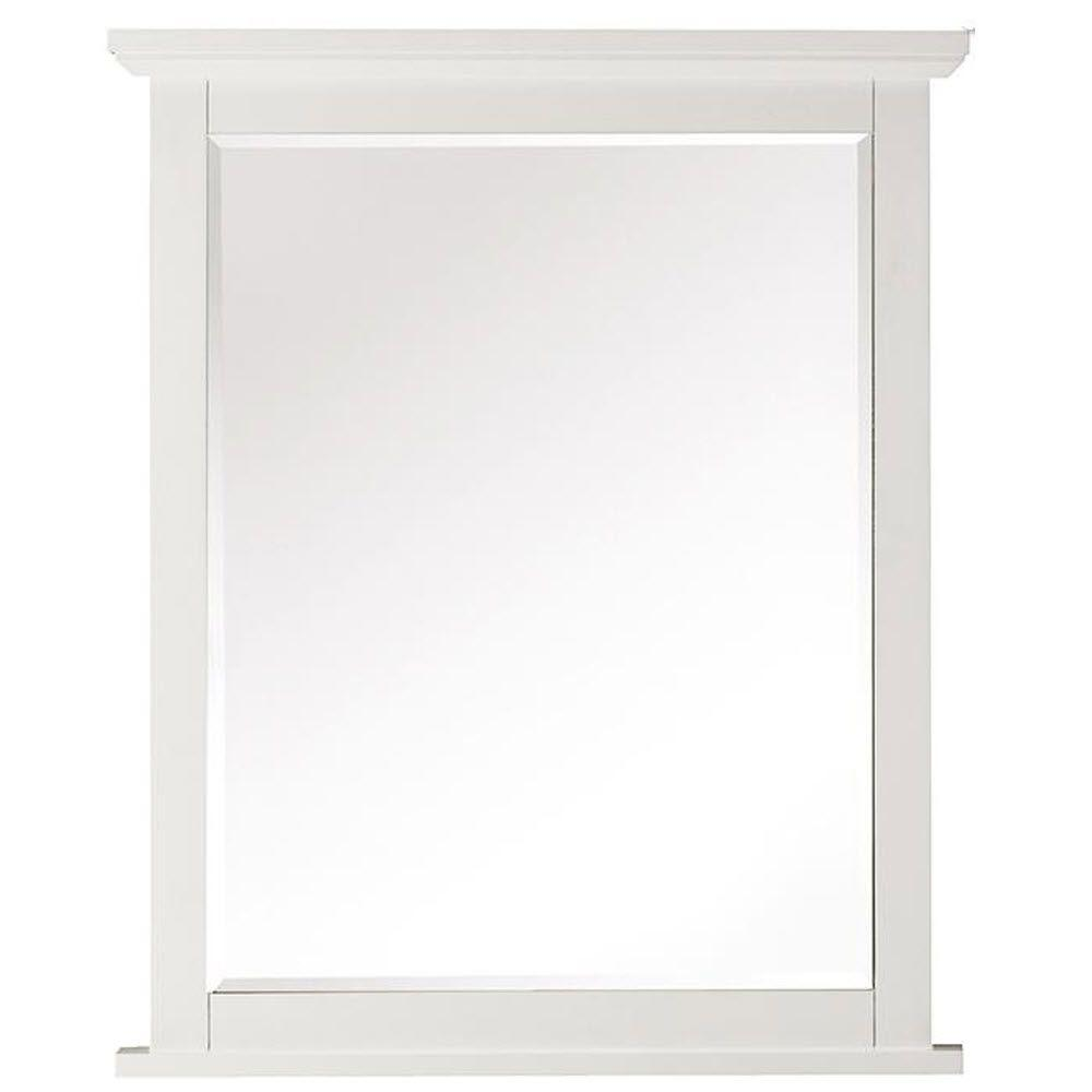 Home Decorators Collection Austell 26 in. x 32 in. Framed Wall Mirror in White