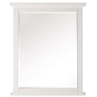 Austell 26 in. x 32 in. Framed Wall Mirror in White