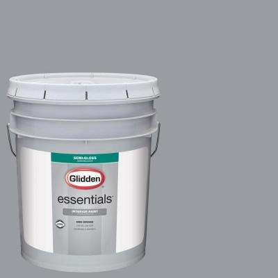 5 Gal. #HDGCN38 Cool Metalwork Grey Semi Gloss Interior Paint