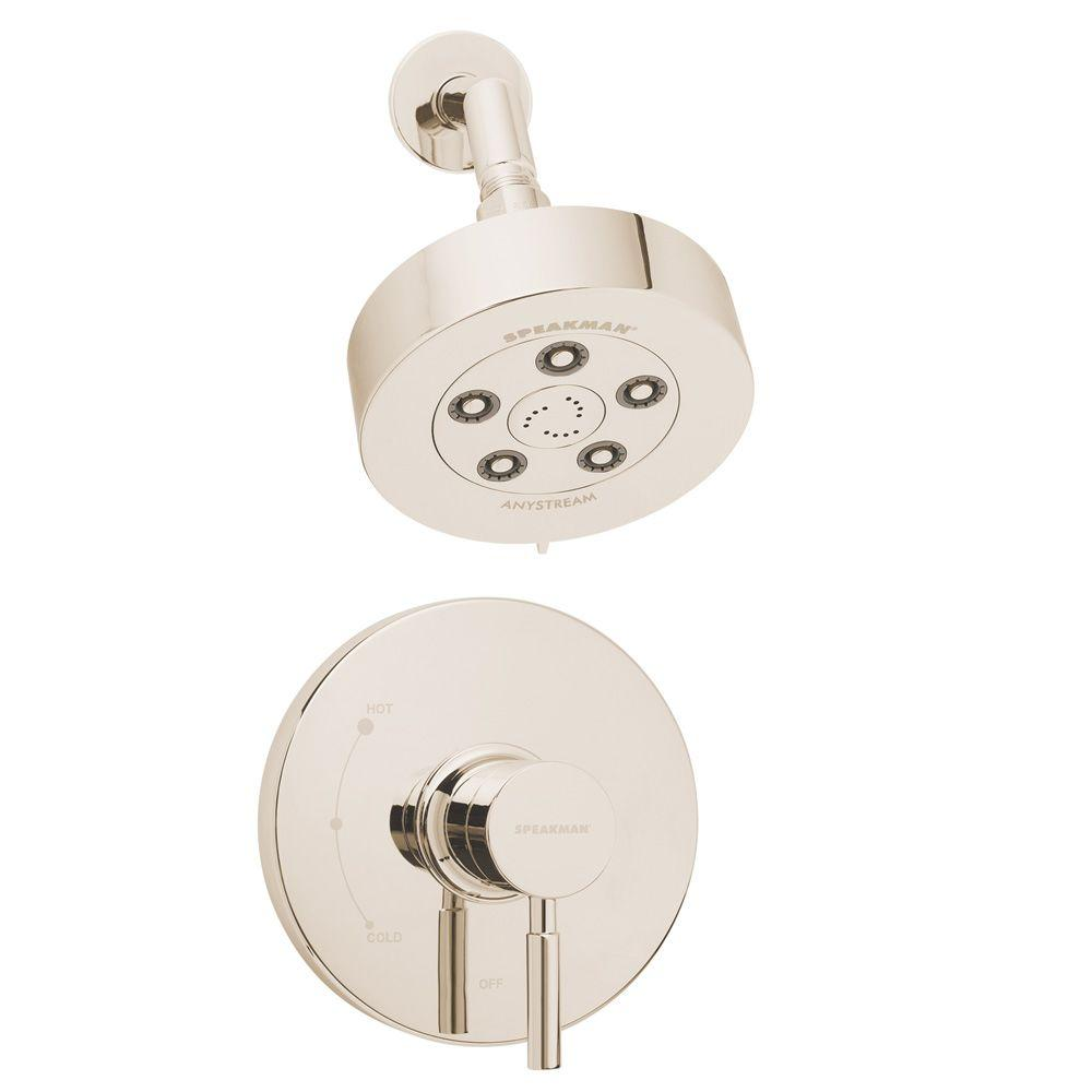 Speakman Neo Pressure Balance Valve and Trim in Shower Combination in Polished Nickel-DISCONTINUED
