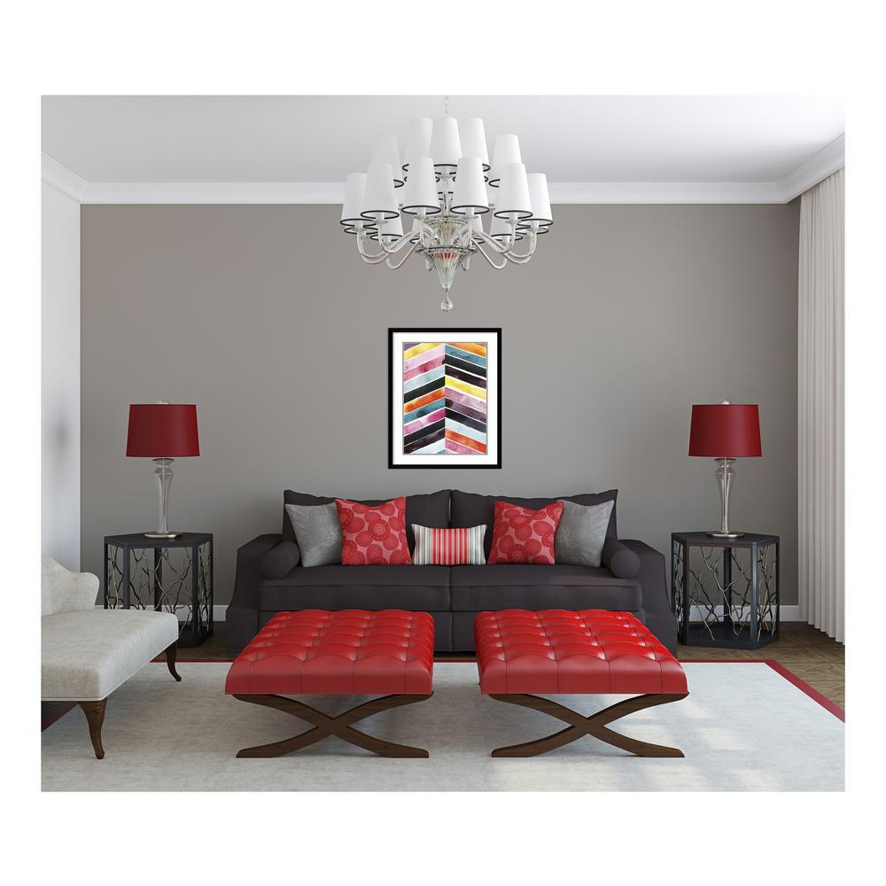 """30 in. H x 24 in. W """"Vivid Watercolor Chevron I"""" by """" Grace Popp"""" Framed Print Wall Art"""