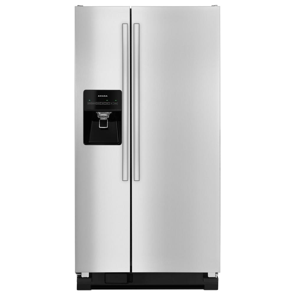 Amana 21.2 cu. ft. Side By Side Refrigerator in Stainless...