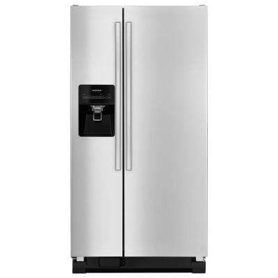 21.2 cu. ft. Side By Side Refrigerator in Stainless Steel