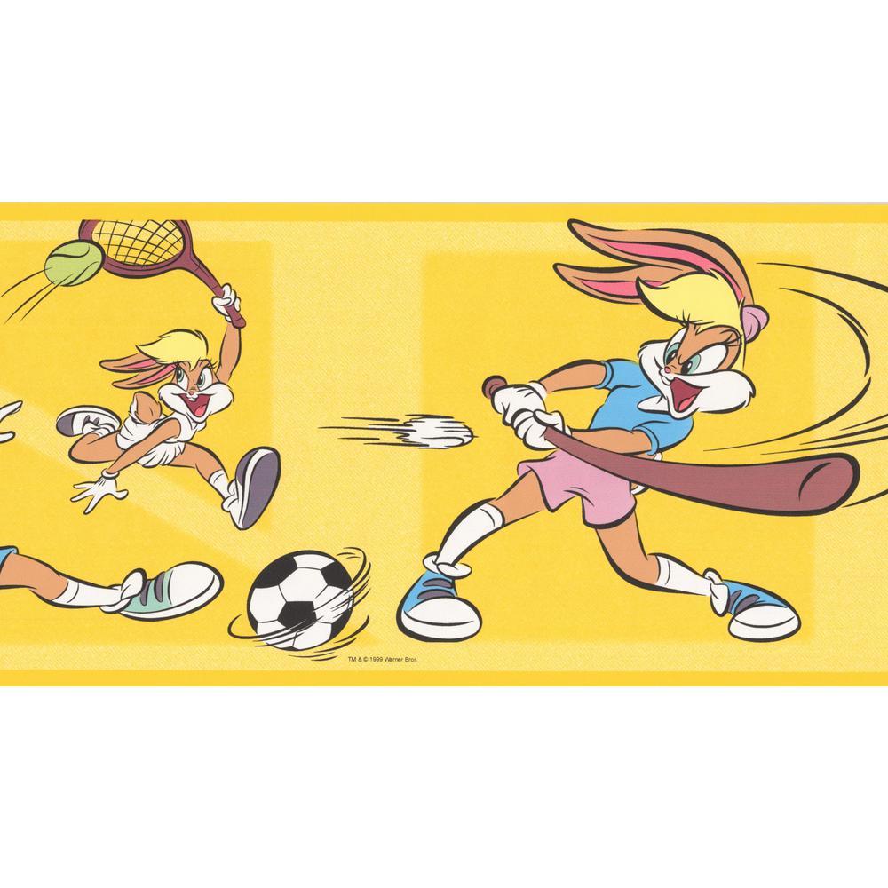 Retro Art Lola Bunny Sports Looney Tunes Disney Cartoon Prepasted
