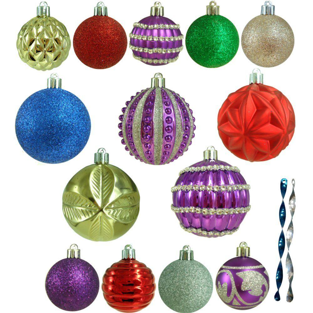 Home Accents Holiday Shatter-Resistant Assorted Ornament (100 ...