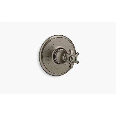 Artifacts 1-Handle Wall-Mount Tub and Shower Faucet Trim Kit in Vintage Nickel (Valve Not Included)