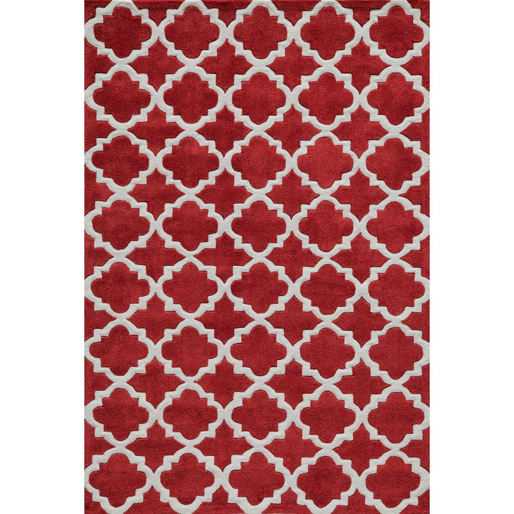 Bliss Red 8 ft. x 10 ft. Indoor Area Rug