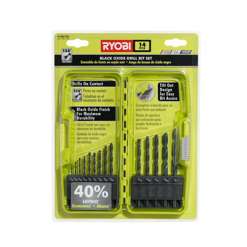 Ryobi Black Oxide Drill Bit Set (14-Piece)