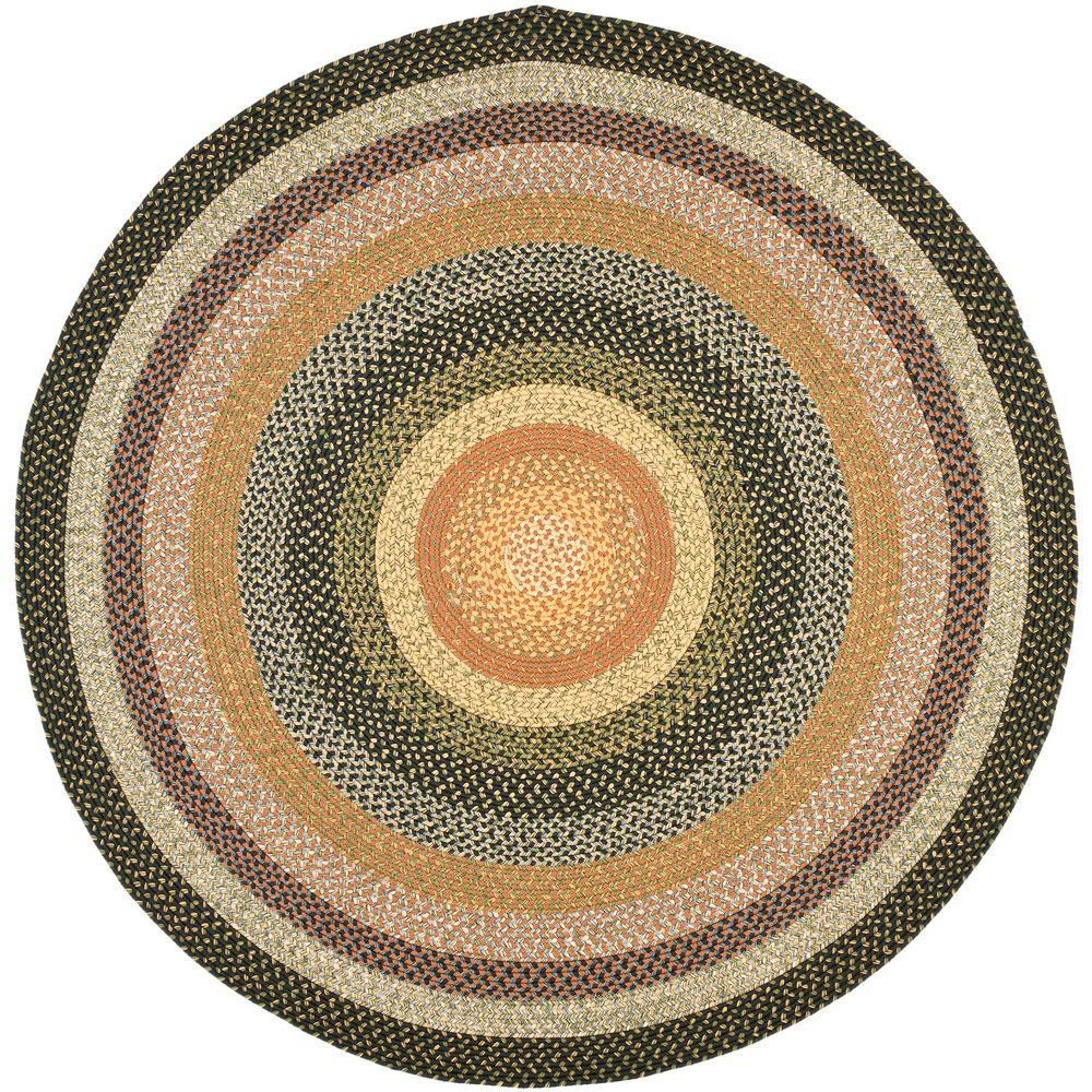 Safavieh Braided Blue Multi 8 Ft X Round Area Rug