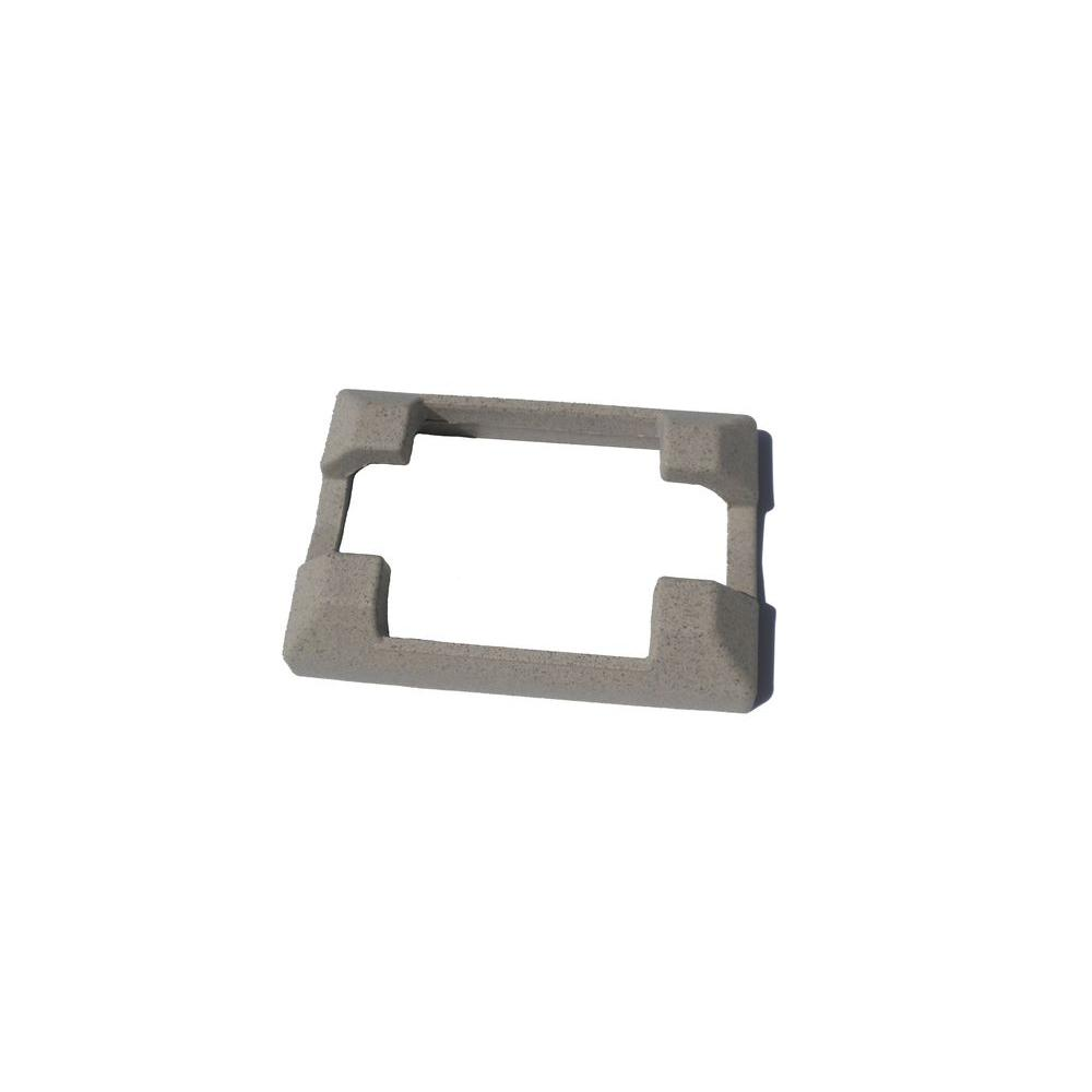 6 in. x 9 in. Beige Composite Line Post Concrete Bracket