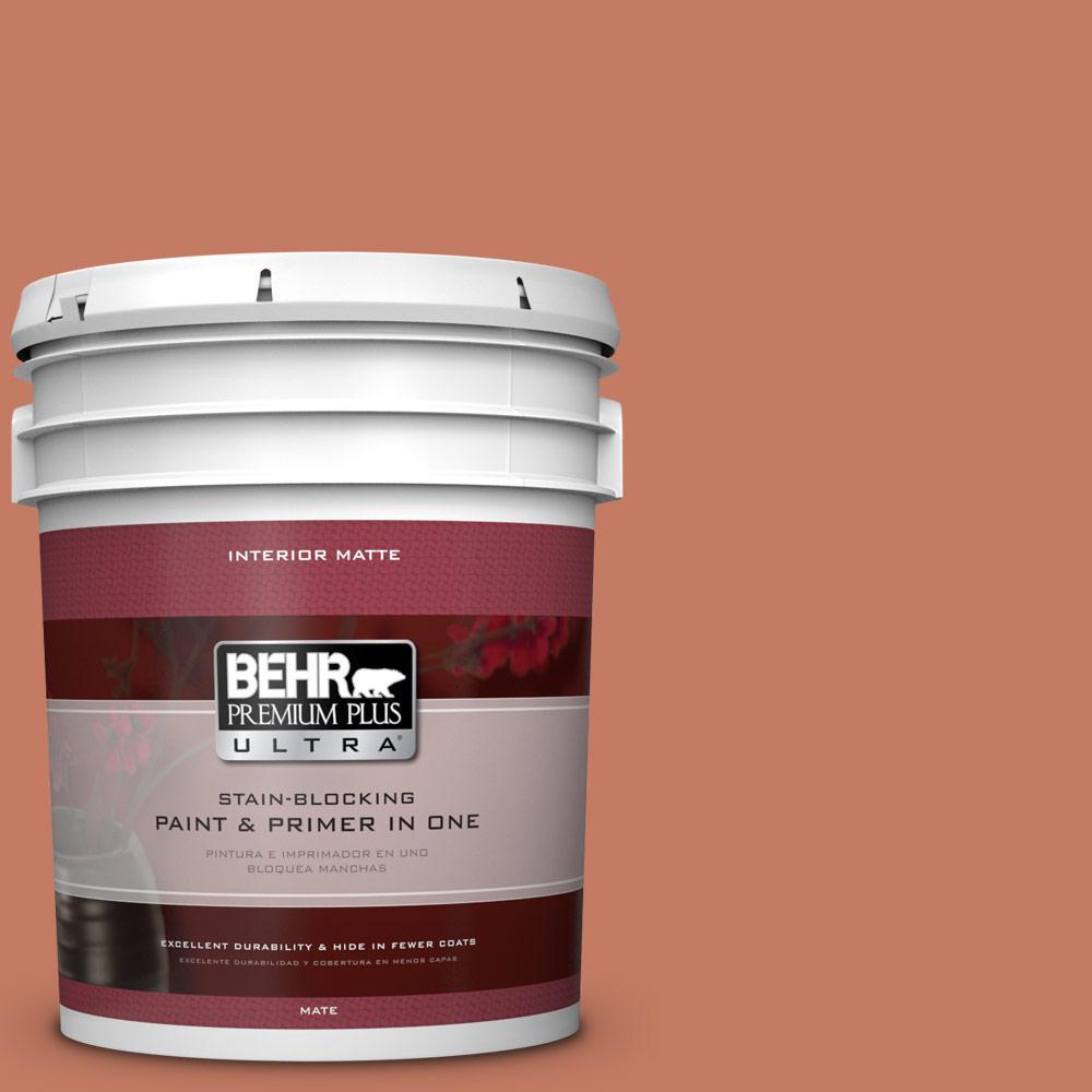 BEHR Premium Plus Ultra 5 gal. #220D-6 Miami Spice Flat/Matte Interior Paint