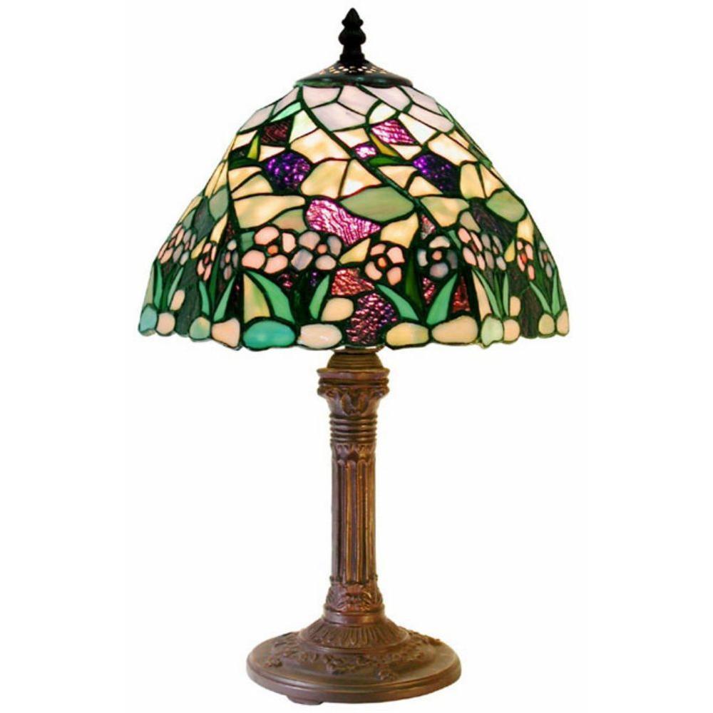 17 in. Lake Multicolored Bronze Table Lamp